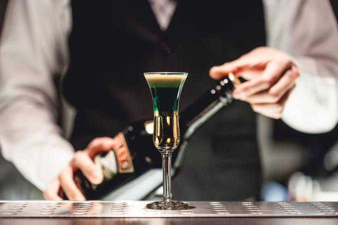 Precision in drinking inside Tokyo 365. Photo by Krystal Ramirez