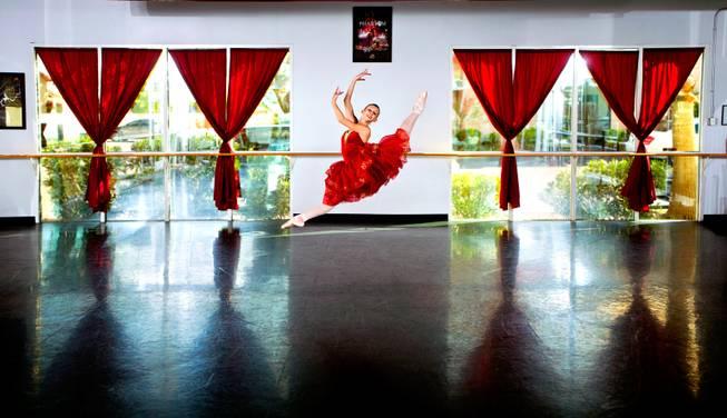 Las Vegas ballerina Monika Haczkiewicz simply soars. Photo by L.E. Baskow