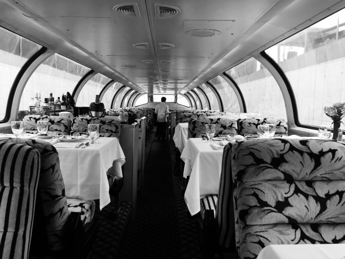 A trip to the glamorous days of train travel. Photo by Sarah Feldberg