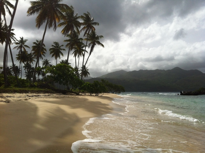 Playa Rincon in Las Galeras, Dominican Republic.