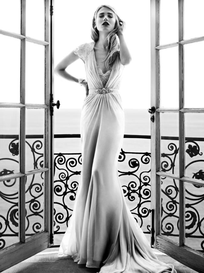 Aspen dress by Jenny Packham. Begging for a glass Champagne.