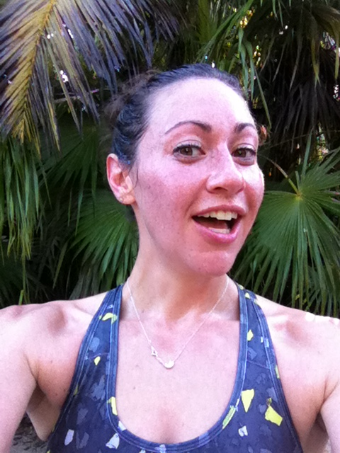 Sweaty selfie. Mid-run in the jungle in Tulum, Mexico.
