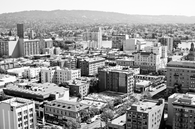 Oakland in black and white. By Thomas Hawk via Flickr